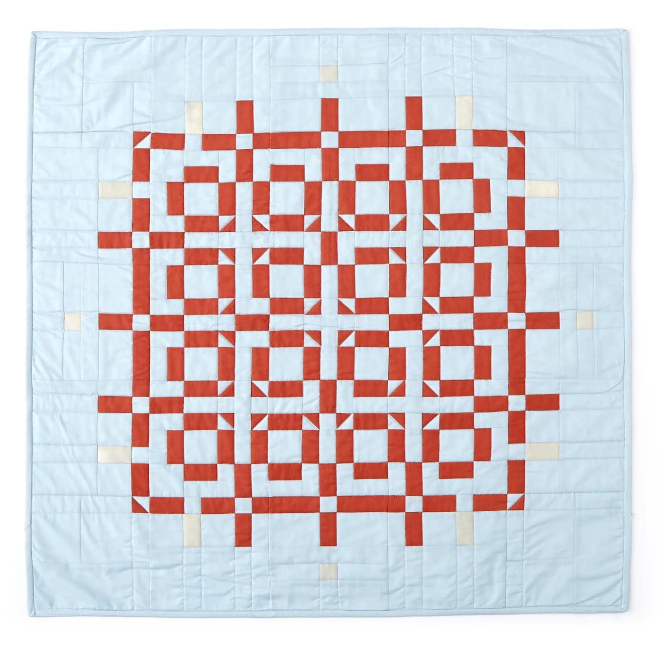 """""""Linden Quilt"""" by Meg Callahan. Hand-stitched cotton fabric."""