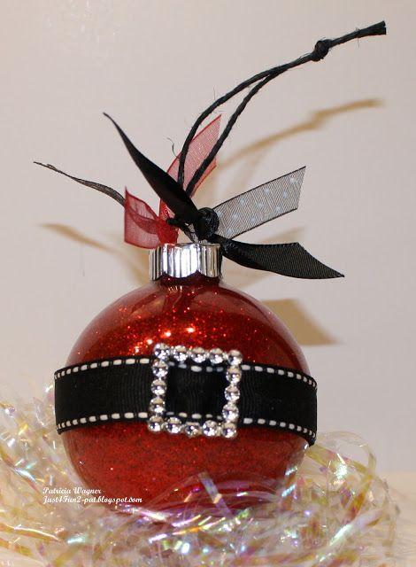 Santa Ornament DIY \u2026 Craft ideas Pinterest Santa ornaments - christmas decorations diy