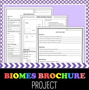 biomes brochure project biomes brochures and students