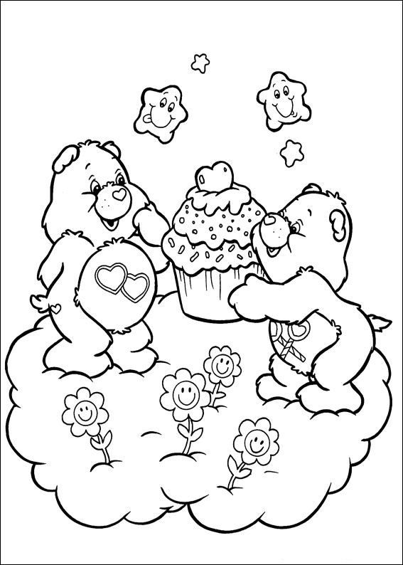 {free} printable coloring page Care Bears | Bear coloring ...