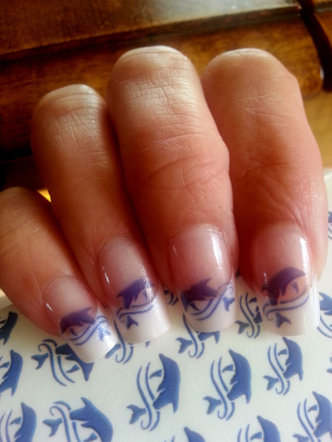 53 BLUE DOLPHIN Nail Art MEGAPACK Set (dlb) - Dolphins in Waves ...
