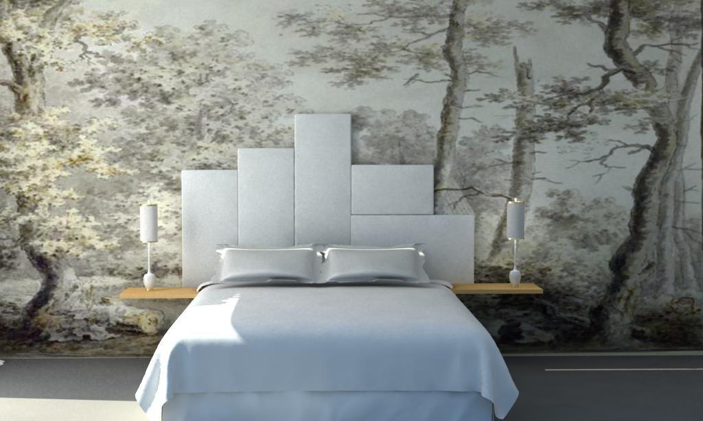 Cabecero tapizado dise o interiorismo trinidad muebles - Cabeceros tapizados de diseno ...