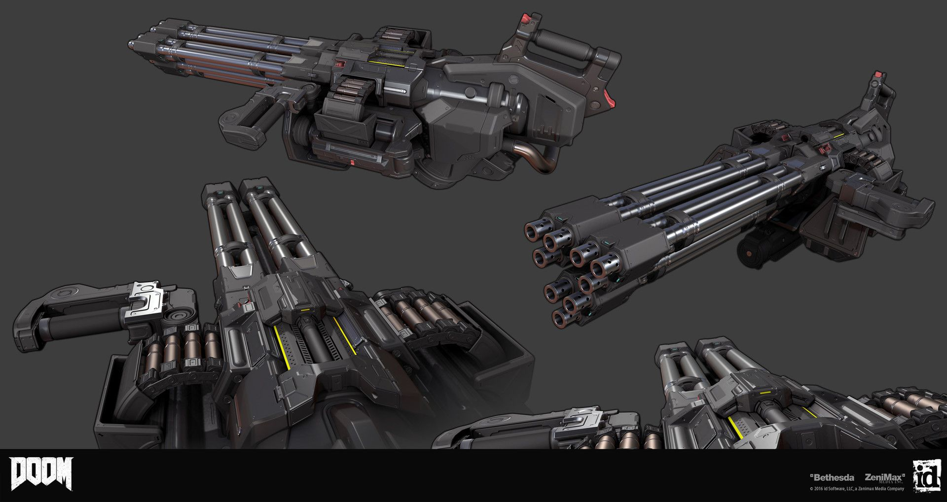 Artstation Doom Chaingunturret Mod Gregor Kopka Weapons