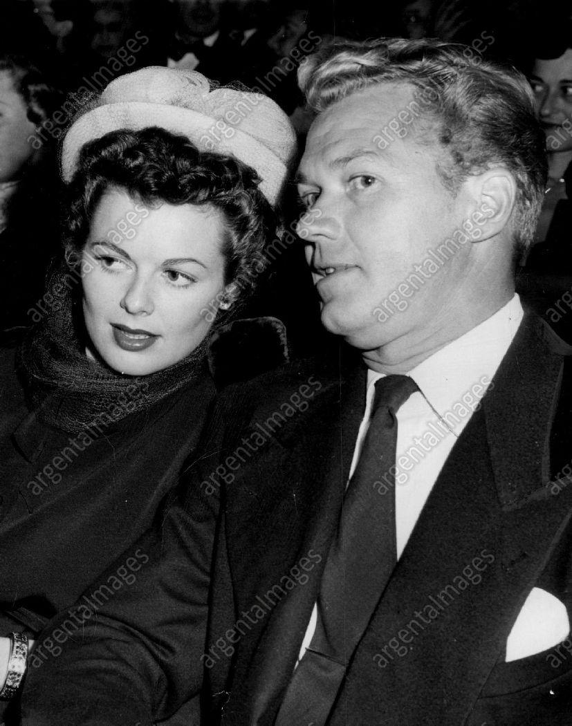 1950, Barbara Hale and husband Bill Williams at the
