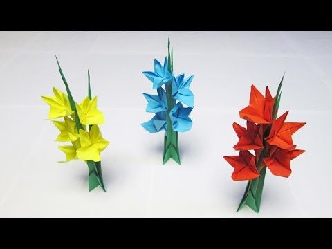 Paper flowers gladiolus youtube origami flowers pinterest paper flowers gladiolus youtube origami mightylinksfo