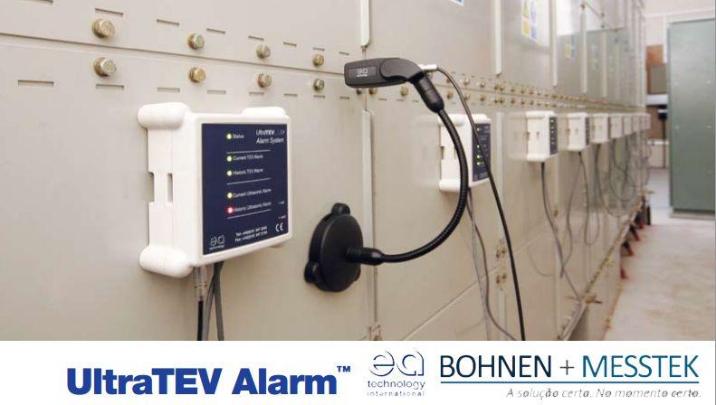 Ultra Tev Alarm: Alarme de atividade de DP #EnergiaEletrica #Eletricidade #AltaTensão #Highvoltage   - Monitoramento contínuo eficaz tanto com ultra-som como sensores de TEV.  - Unidades de sensor multi-nó pode monitorar mais de 100 ativos simultaneamente.  - Simultaneamente mede umidade local e condições de temperatura.  - LEDs indicadores de unidade hub Central fornecer imediato indicação de problemas DP.  - Receba alertas em qualquer lugar, via e-mail ou mensagem de texto.