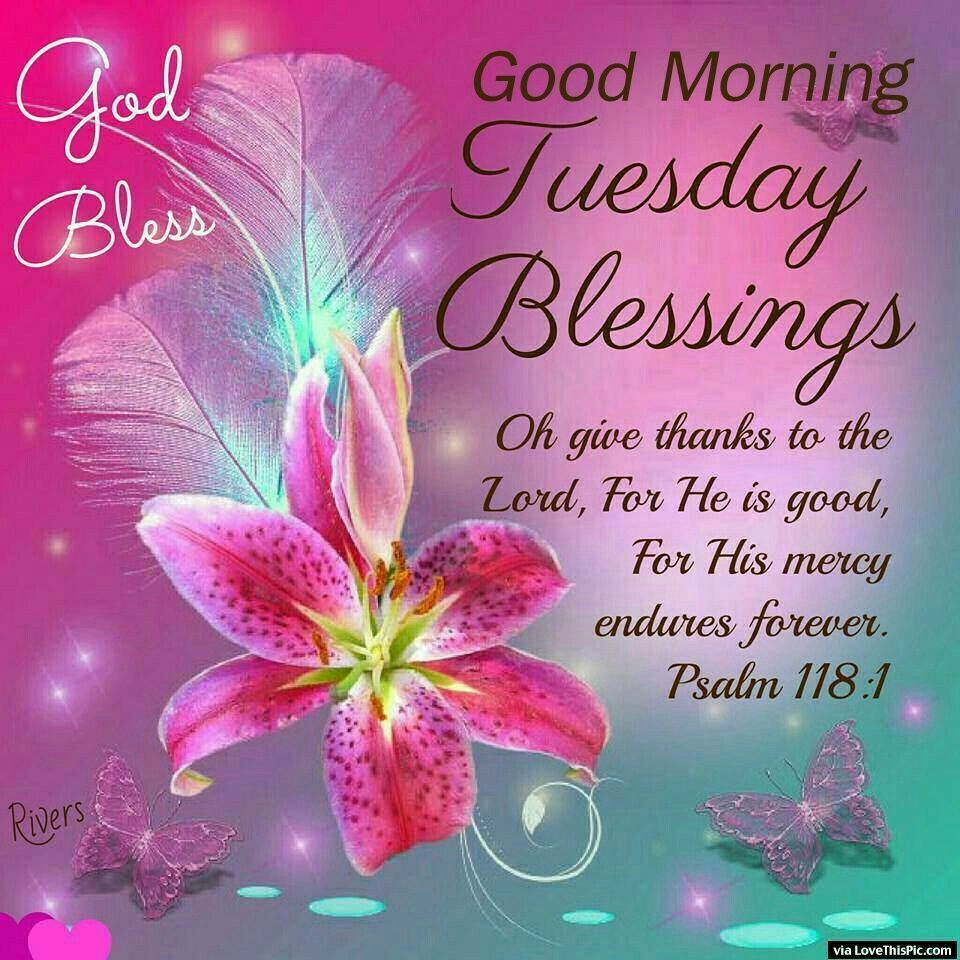 Tuesday Blessings Good Morning Tuesday Good Morning Tuesday
