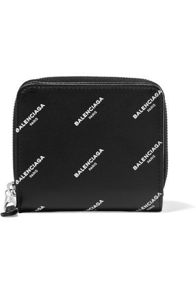 Balenciaga - Bazar Printed Leather Wallet - Black - AVAILABLE HERE: http://rstyle.me/~a66AR