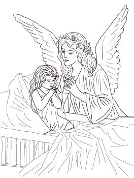 Guardian Angel Prayers Coloring Page From Church Category Select 24652 Printable Crafts Of Cartoons Nature Animals Bible And Many More