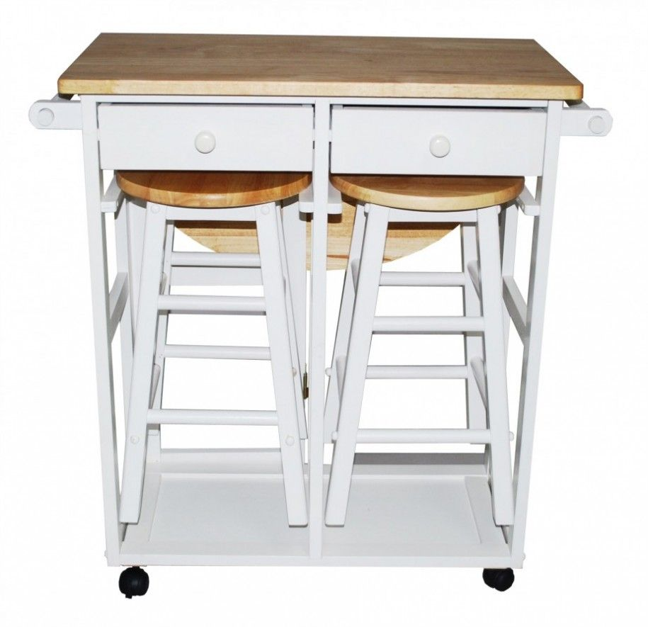 Kitchen island cart with seating desired charming small for Rolling kitchen island with seating