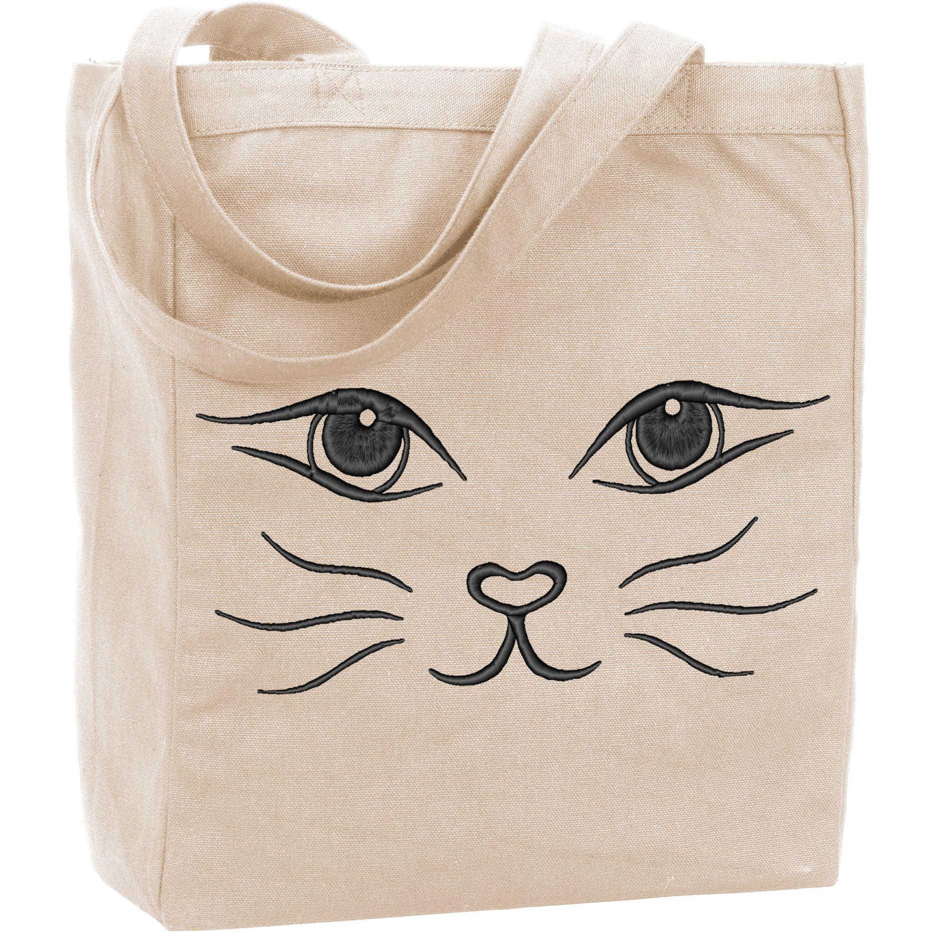 Cat Face Tote Bag