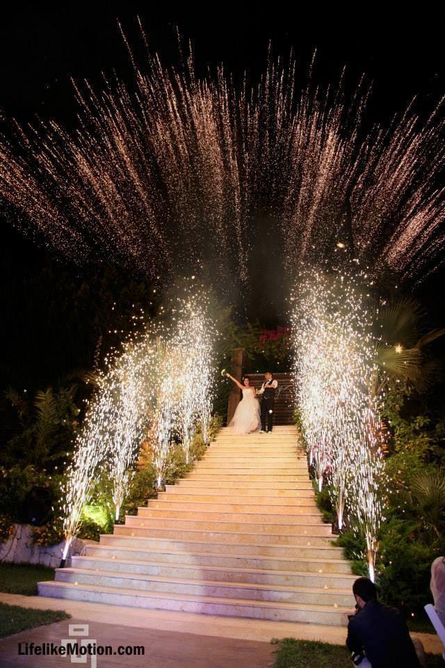 #Wedding #entrance #fireworks - maryam #decorationentrance