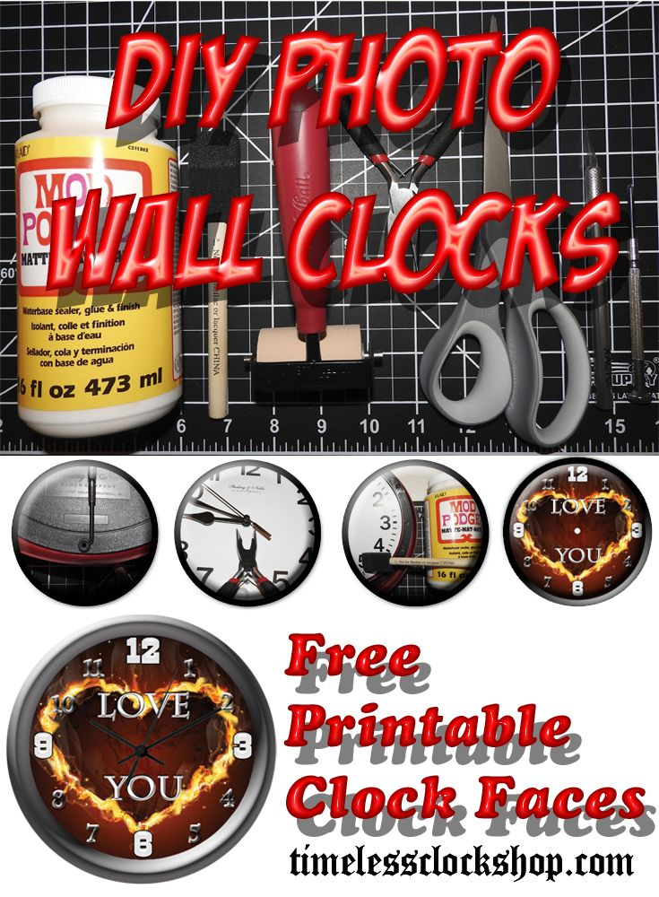 FREE Printable Clock Faces For A Couple More Dollars, We Will - make a free printable flyer