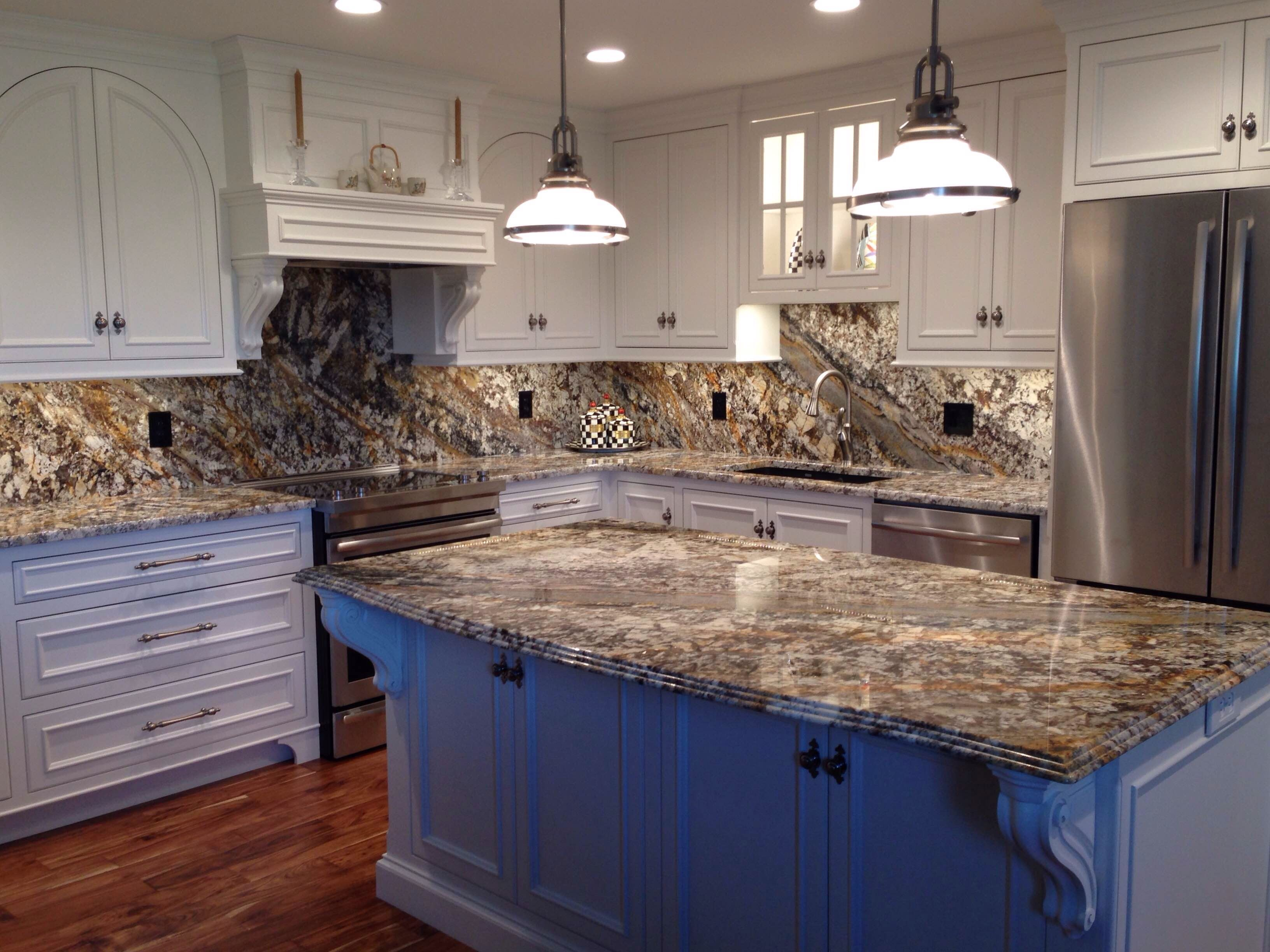 Treasure Island Granite Counter Tops And Back Splash By