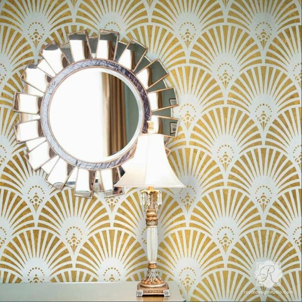 Superior Interior Design Trend: Art Deco Style Decor   Decorating With Wallpaper U0026  Wall Stencils