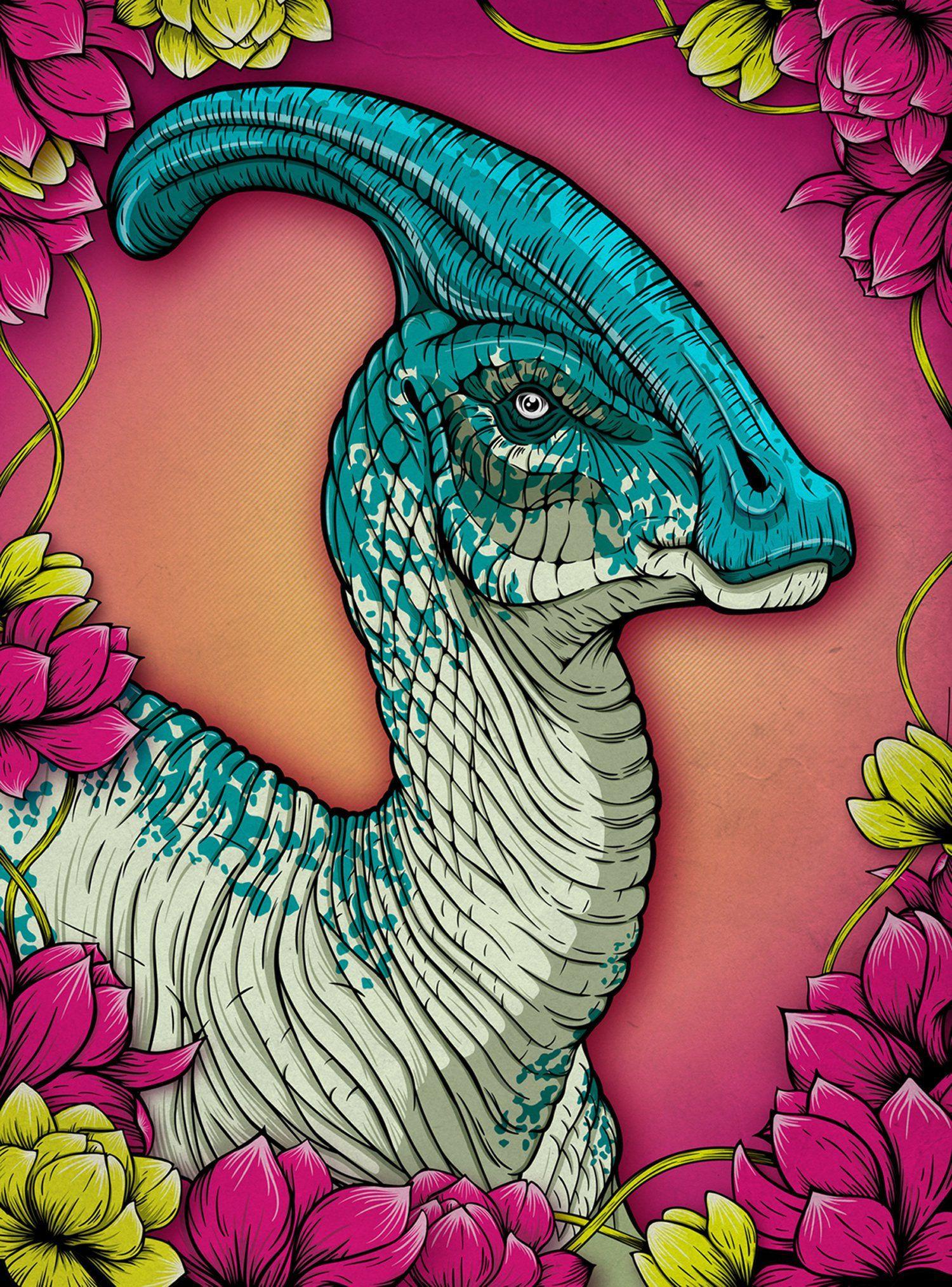 Parasaurolophus Dinosaur Print - Jurassic World