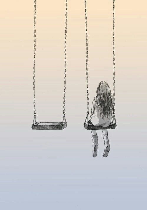 Alone, Girl, And Drawing Image  Illustration  Drawings -5297