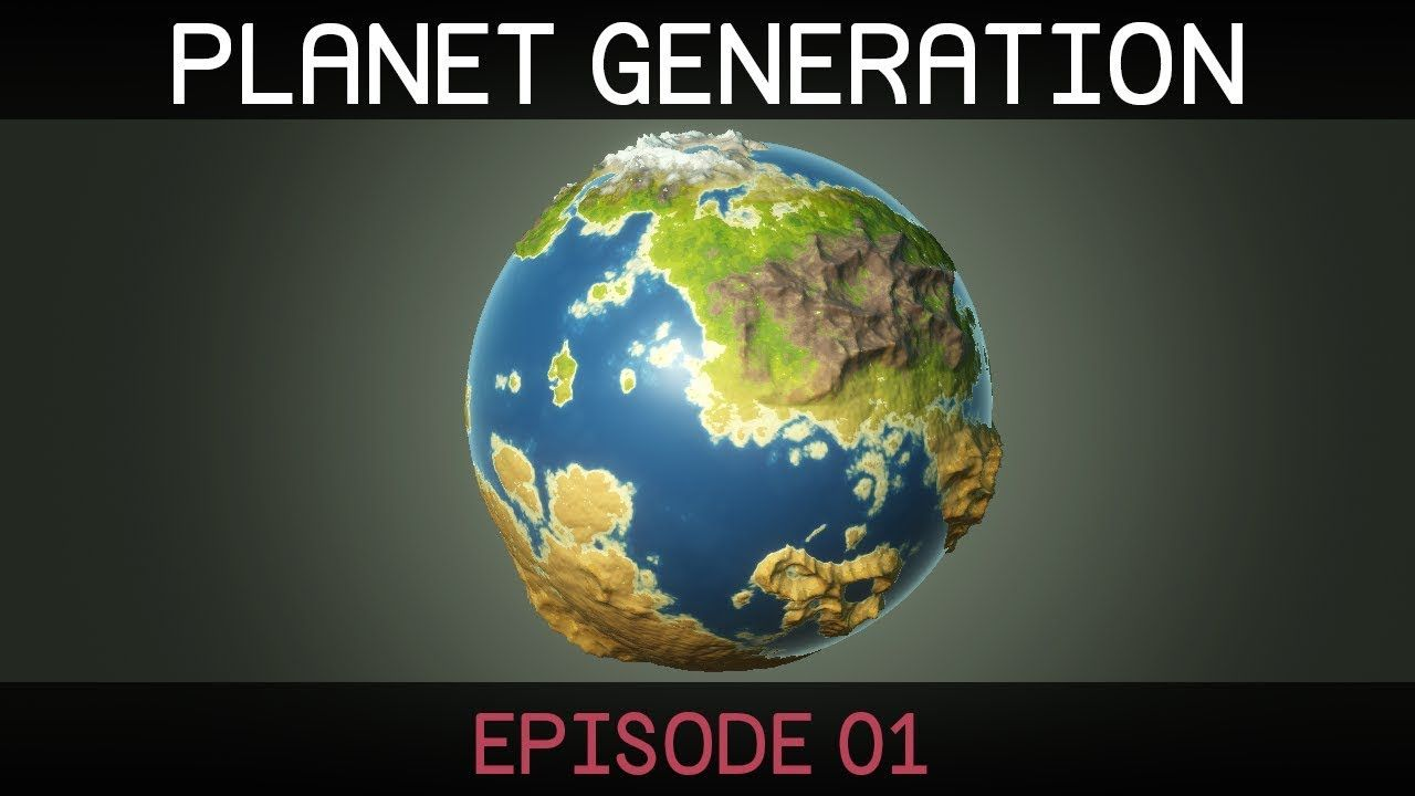 Procedural planet generation (video series) #unity #3d #game