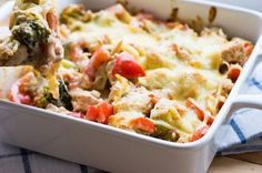 Photo of Low carb bell pepper turkey casserole in cream sauce