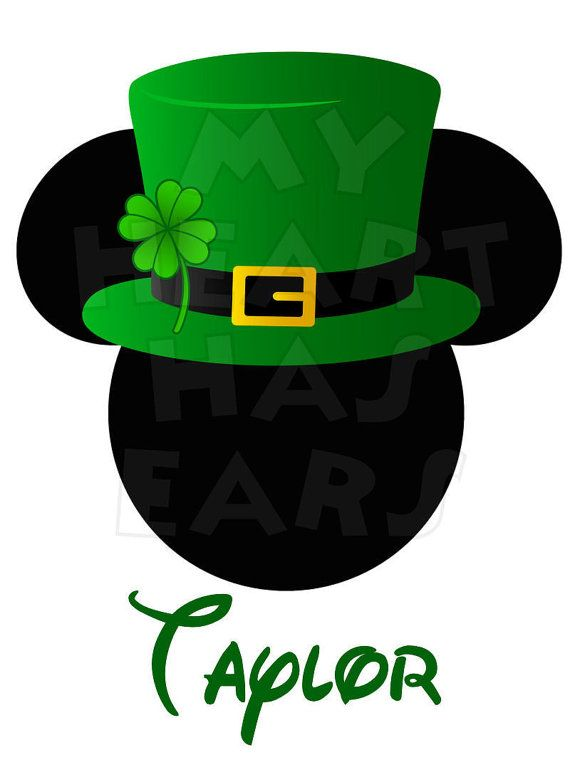 Printable Diy Mickey Mouse In St Patrick S Day Digital Clip Art Iron On Transfer For T Shirts B Disney Cruise Door Decorations Disney Cruise Door Cruise Door
