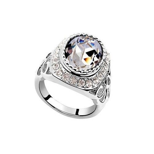 exquisite shine jewellery ring by swarovski elements venus blue