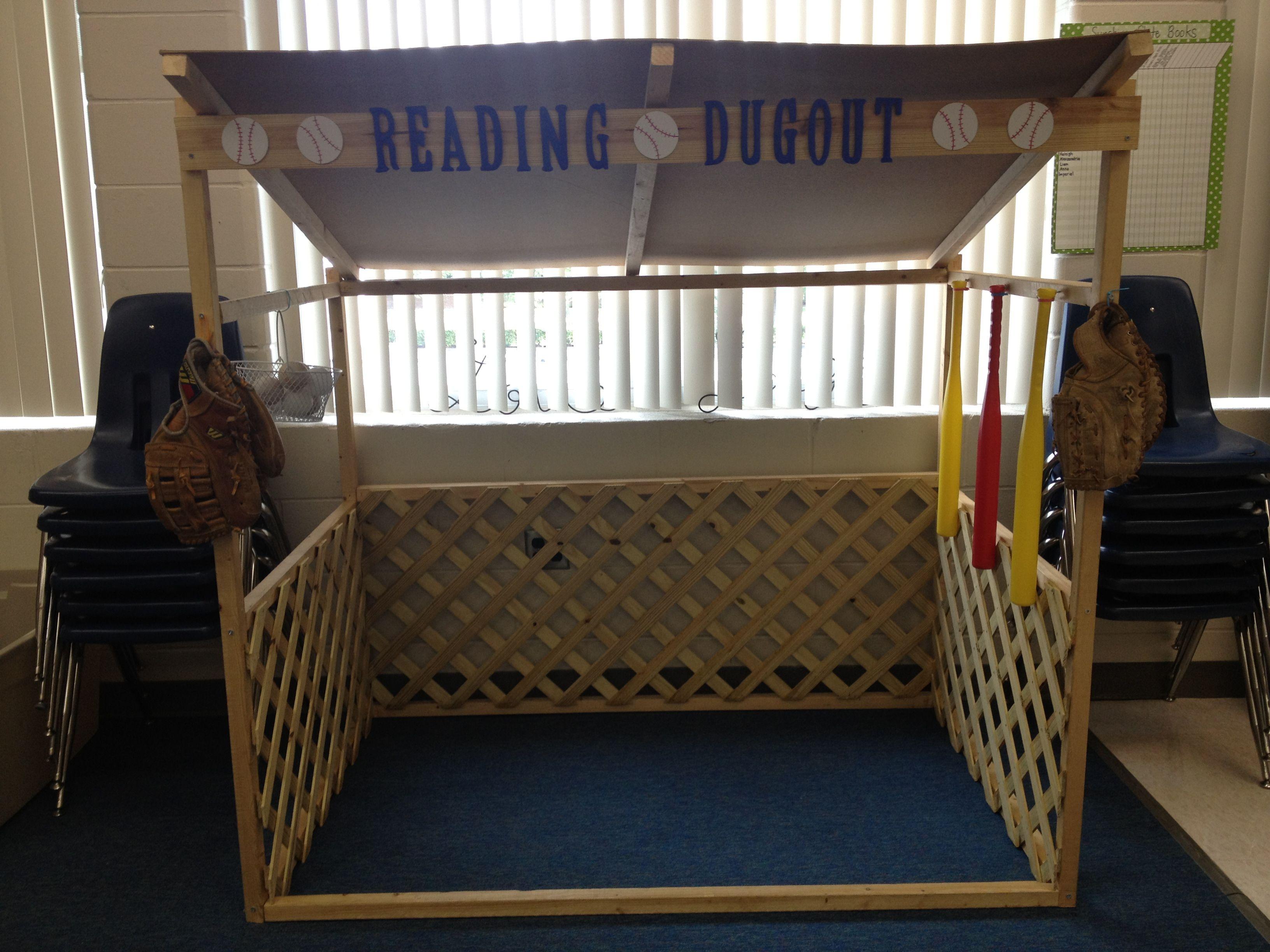 Baseball Dugout Bedroom Designs: Reading Dugout For Baseball Themed Classroom!
