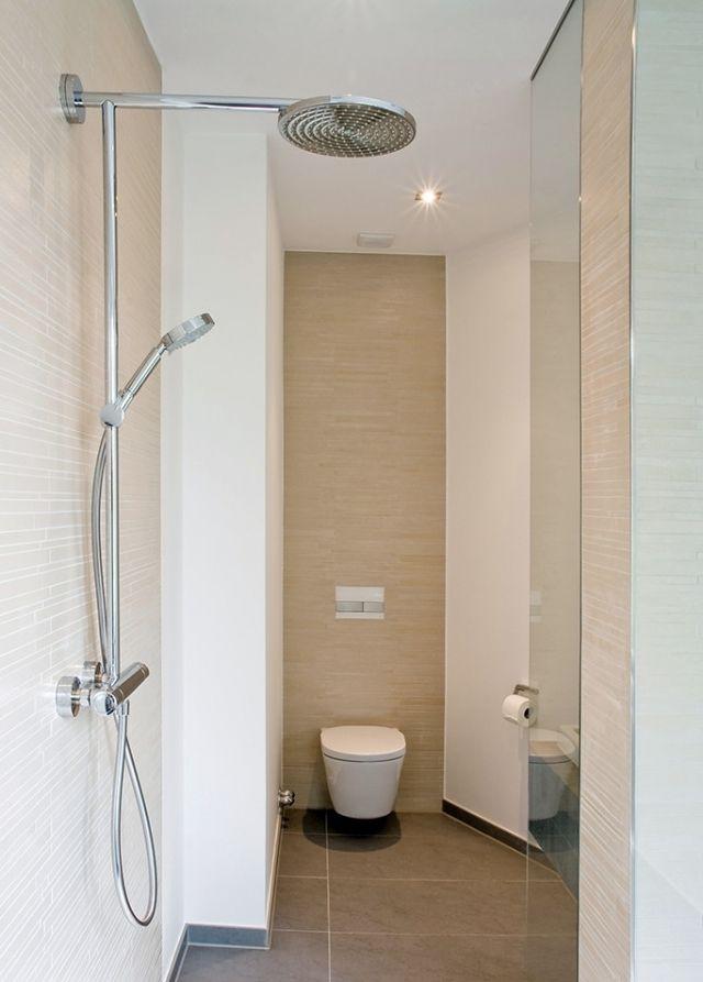 kleines-bad-dusche-handbrause-fliesen-sand-farbe | Badezimmer ...