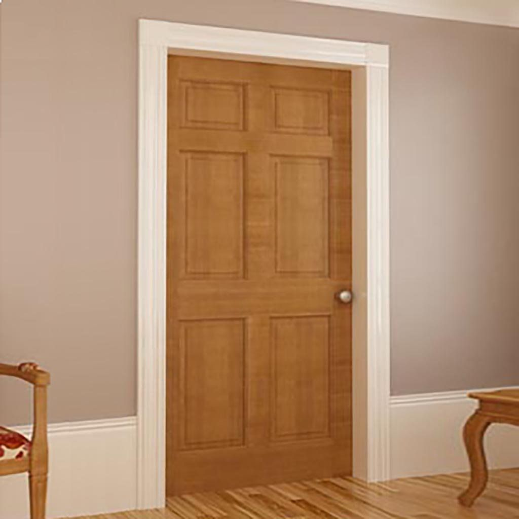 Solid Wood Core Interior Door 1 3 8 In Thick Double Hip Panels Suitable For Staining Or Paintin Wood Doors Interior Doors Interior French Doors Interior