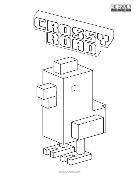 Crossy Road Coloring Page | Super Fun Coloring Pages | Pinterest ...