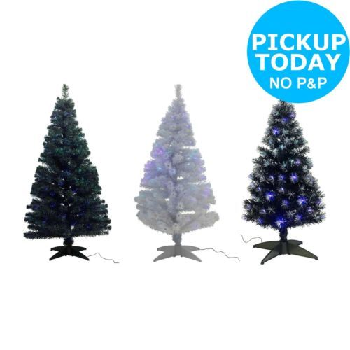 Fibre Optic Artificial Indoor Christmas Tree Choice Of Colour X2f Size From Argos Christmas Tr Christmas Decorations Tree Indoor Christmas Christmas Tree