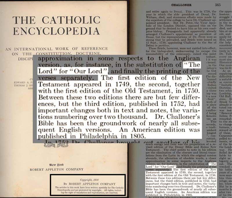The Catholic Encyclopedia explains Freemason Challoner s revisions ... eb7d5ea30c