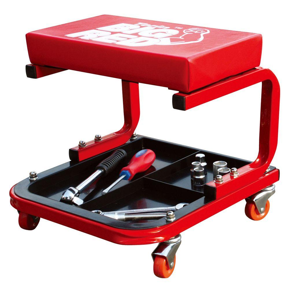 Big Red Creeper Seat With Tool Tray Tr6300 In 2020 With Images Chair Storage Garage Decor Mechanics Stool