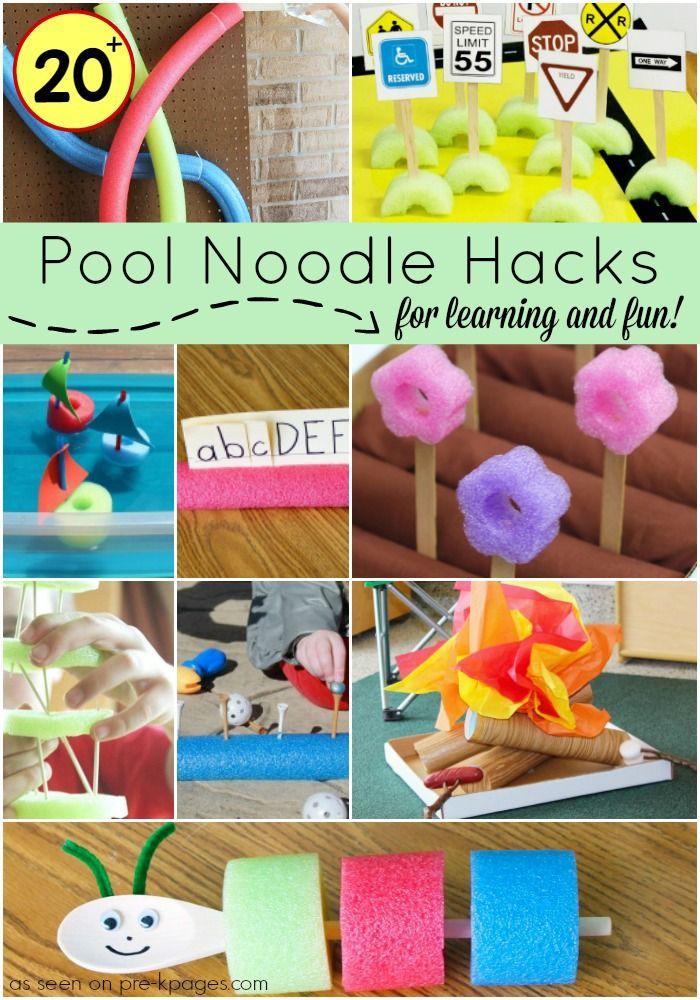 20 Ideas For Pool Noodles Pre K Pages Kindergarten Crafts School Crafts Pool Noodles