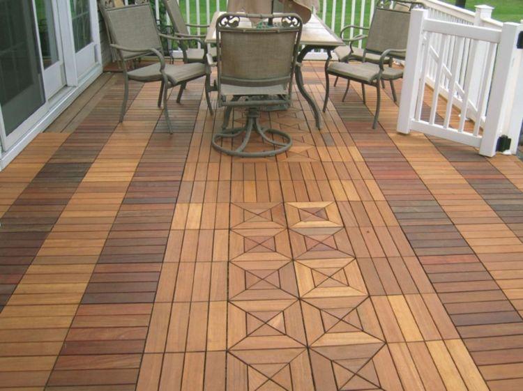 Balkon Fliesen aus Holz – 50 stilvolle Outdoor Ideen