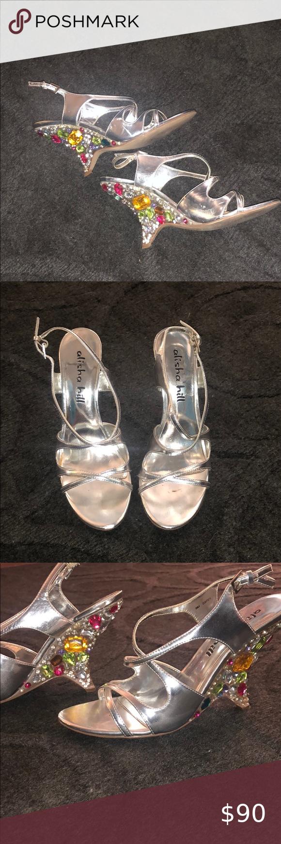 Beautiful unique stoned heels in 2020 Shoes women heels