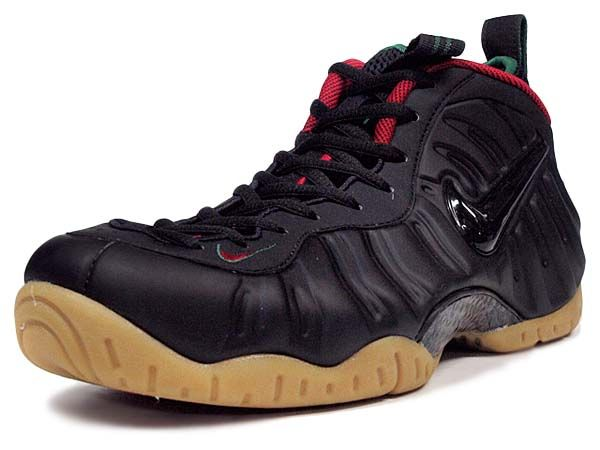 NIKE AIR FOAMPOSITE PRO GUCCI [BLACK / GORGE GREEN-METALLIC GOLD-GYM RED