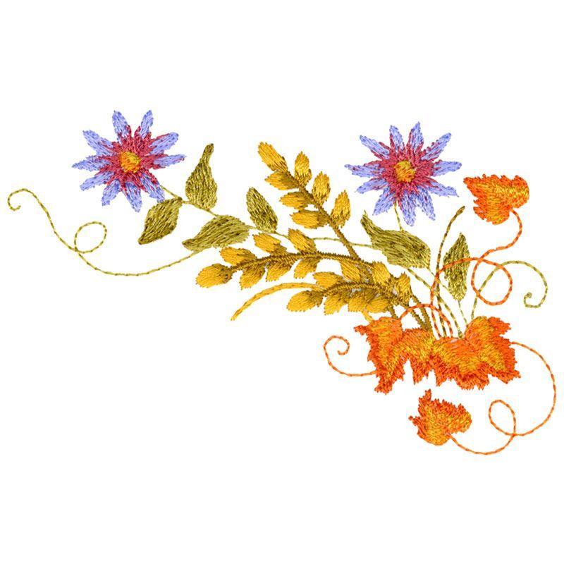 Free Embroidery Design: Asters 3 | matrices | Pinterest | Bordado