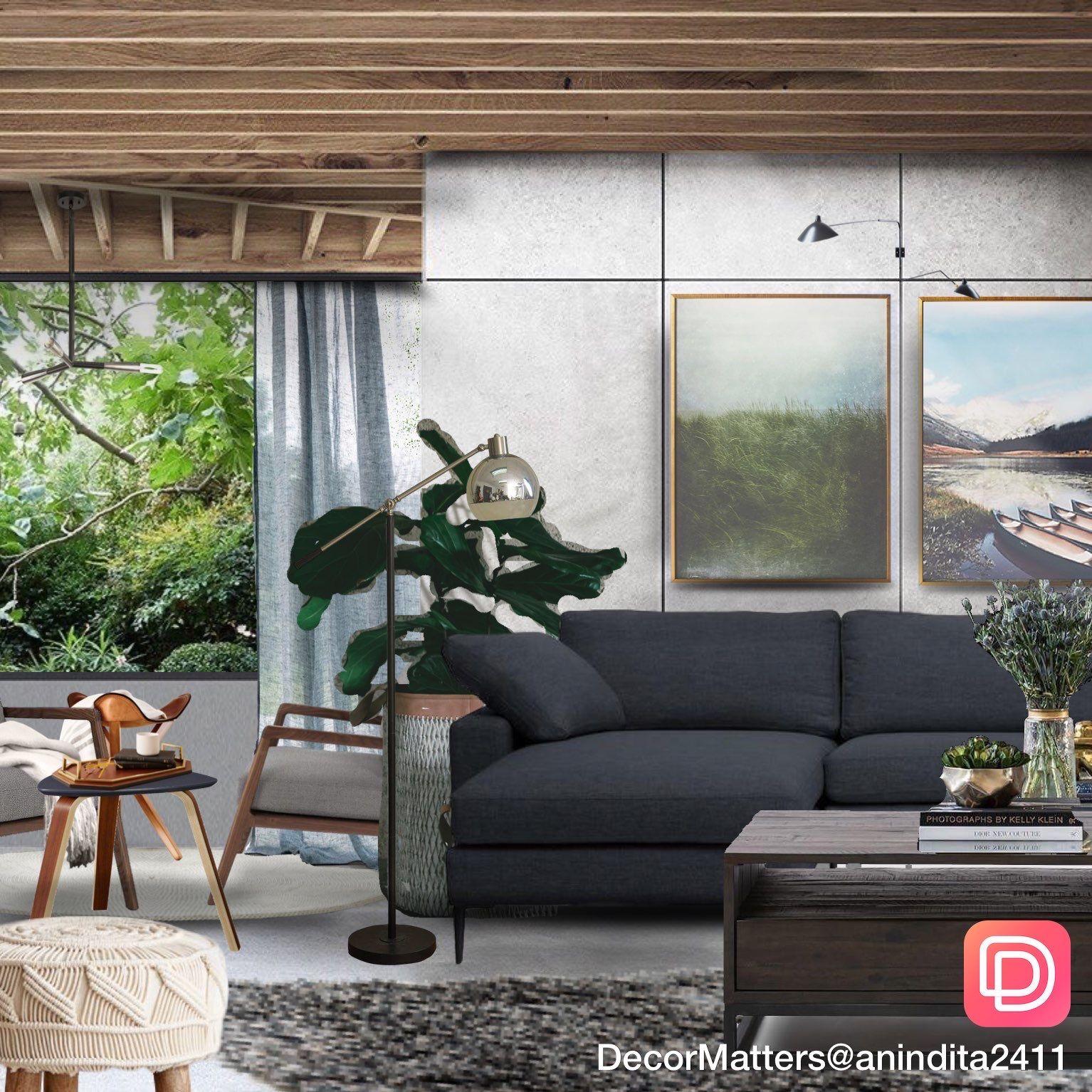 Dark And Modern Living Room Design In 2020 Living Room Des