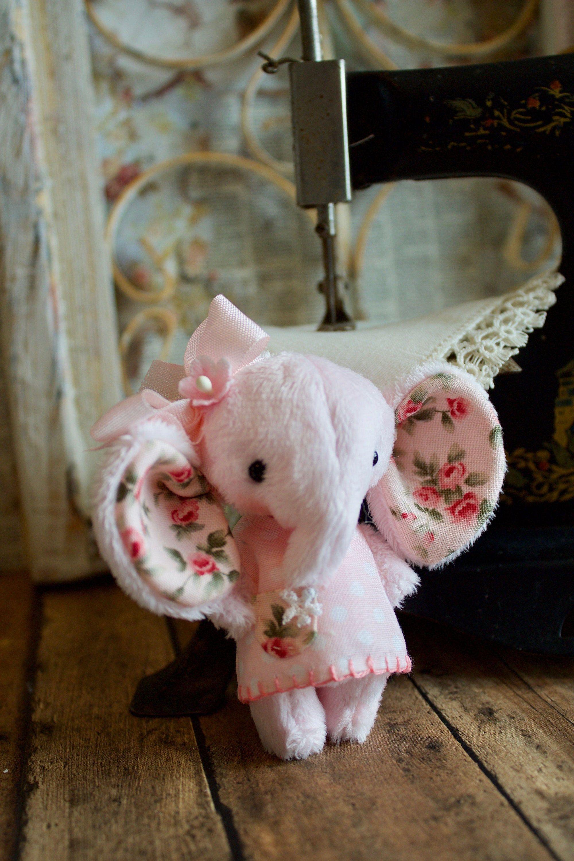 artist elephant with pink polka dot dress Pink polka