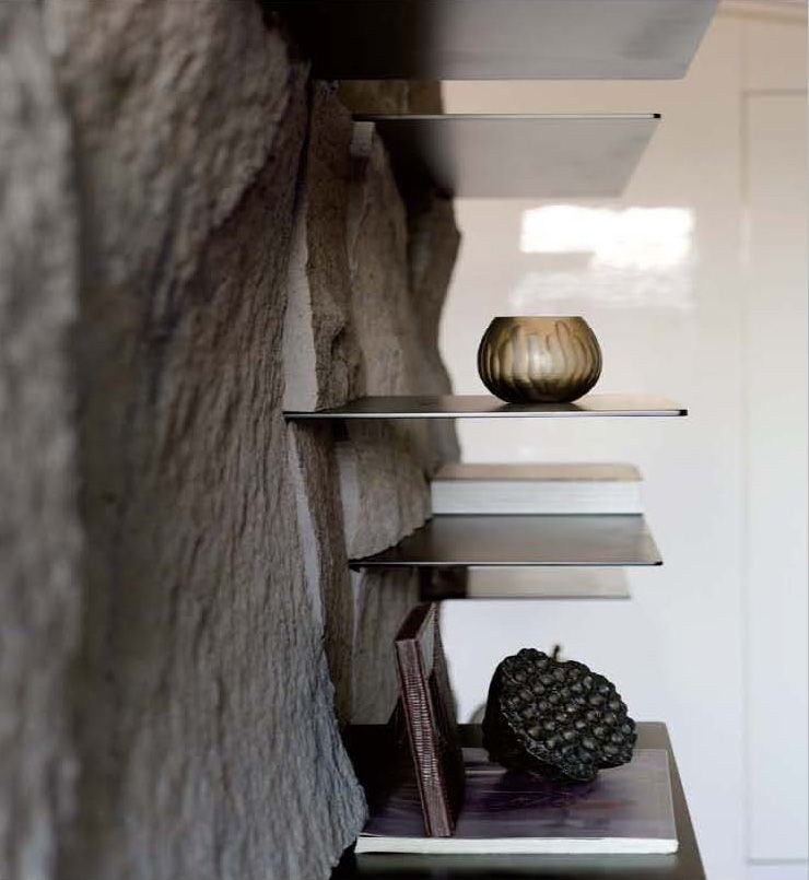 Natura Wohndesign: Stunning Shelves Built In What Looks Like Natural, Rough