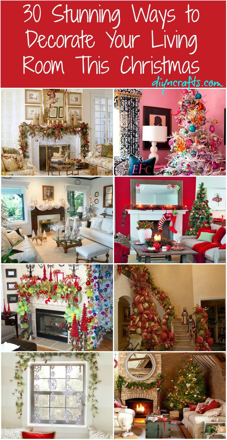 30 Stunning Ways To Decorate Your Living Room For Christmas With