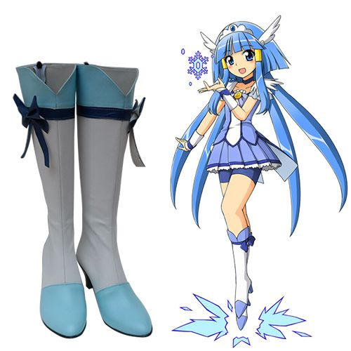 Smile PreCure Glitter Force Hoshizora Miyuki Cure Happy Dress Cosplay Costume!D