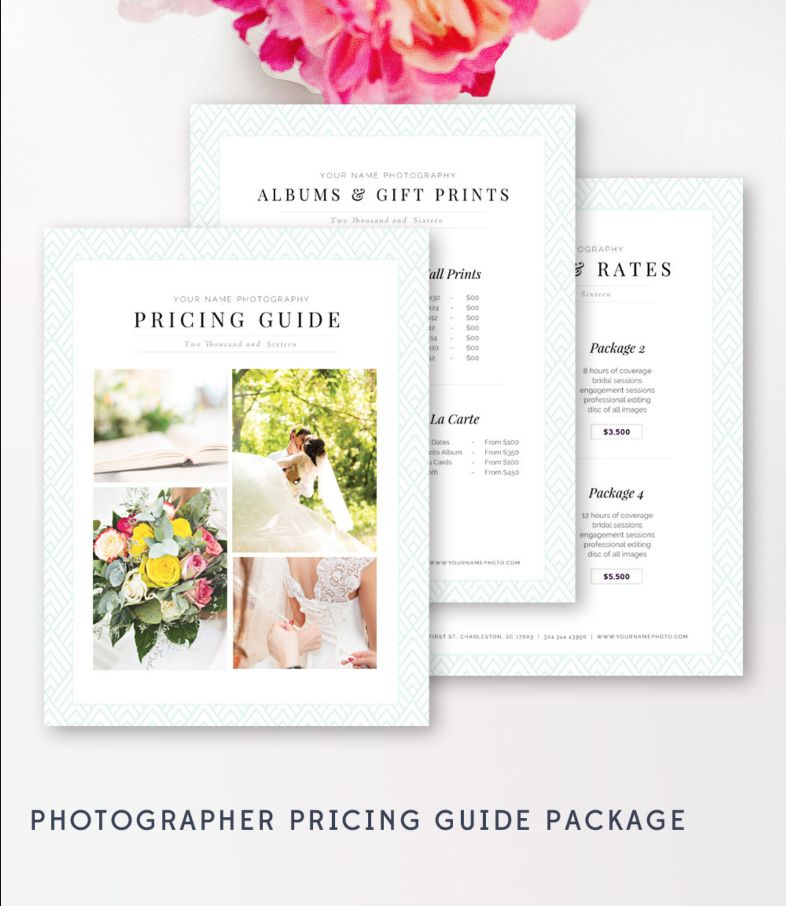 Photography Pricing Template - Marketing Set - Pricing Guide - guide templates