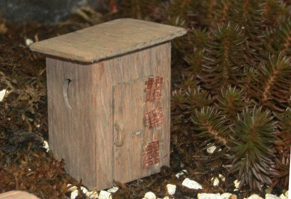 Fairy garden outhouse by JonahsSign on Etsy, $22.00