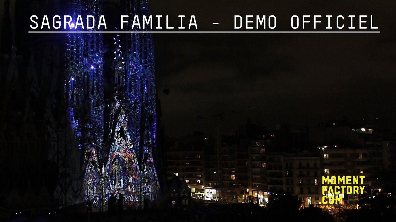 Sagrada Familia (Ode à la vie) - Démo officiel. MONTRÉAL SIGNE L'ODE À LA VIE Les villes de Barcelone et de Montréal ont invité Moment Factory à créer une fresque vivante sur la façade de la basilique de la Nativité de la Sagrada Familia, le chef d'œuvre d'Antonio Gaudi. Le résultat est un hommage multimédia à l'une des églises les plus vénérées mondialement. Le spectacle en mapping vidéo d'une durée de 15 minutes raconte une histoire de renaissance, d'espoir et de grâce. Voici le démo…