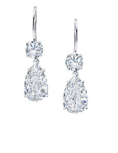 2 0 Carat Pear Shape Diamond Drop Earrings