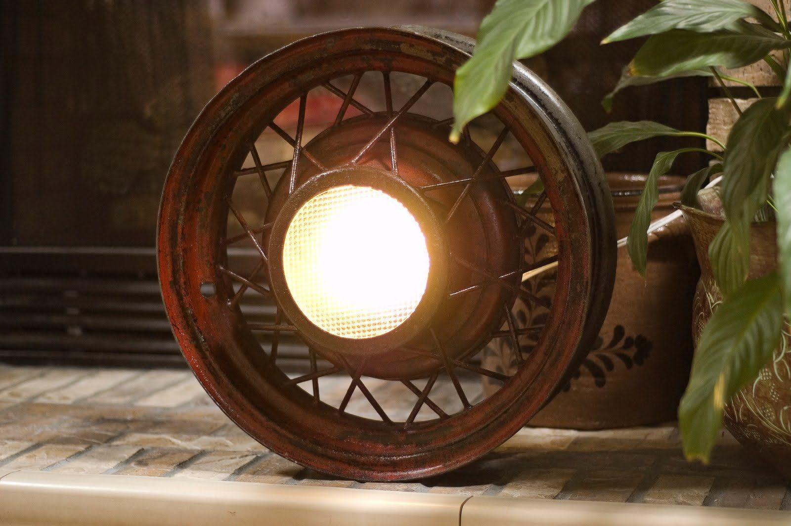 Frankly Speaking Too: John's Project: Antique Wheel Light