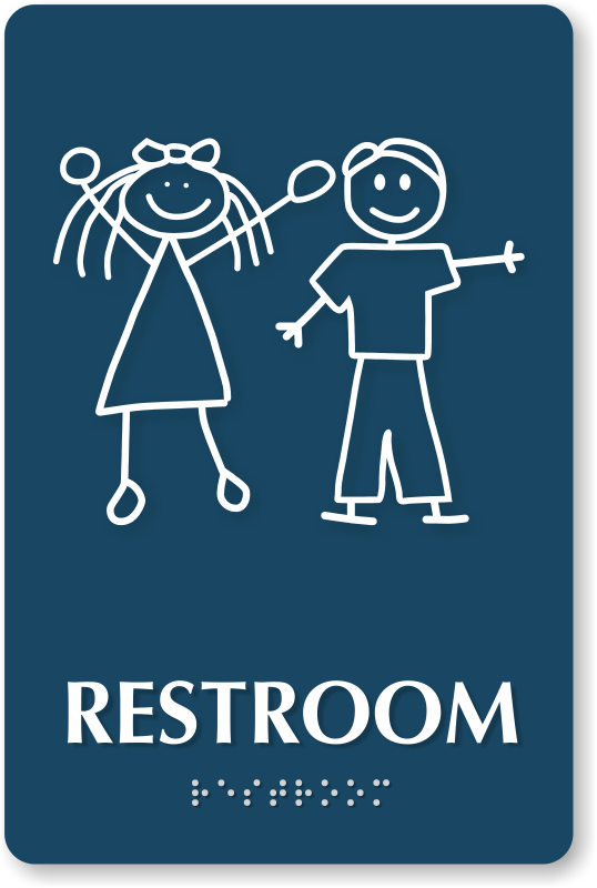 Bathroom Signs Unisex top quality unisex restroom signs that stand out. title 24