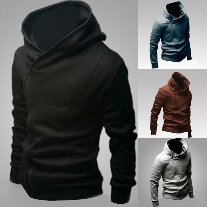 Winter Men's Stylish Warm Hooded Sweatshirt Zipper Coat Jacket ...