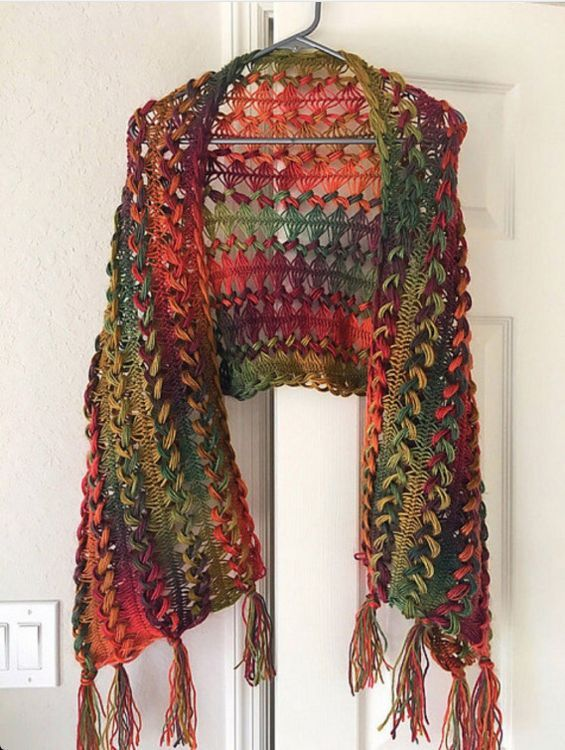Try crocheting over two sticks to create the unusual yet lovely ...